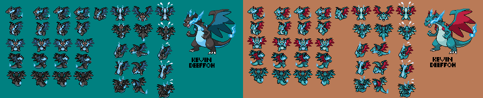 Charizard X Sprite- With fixes and shiny by Kevin0itachi