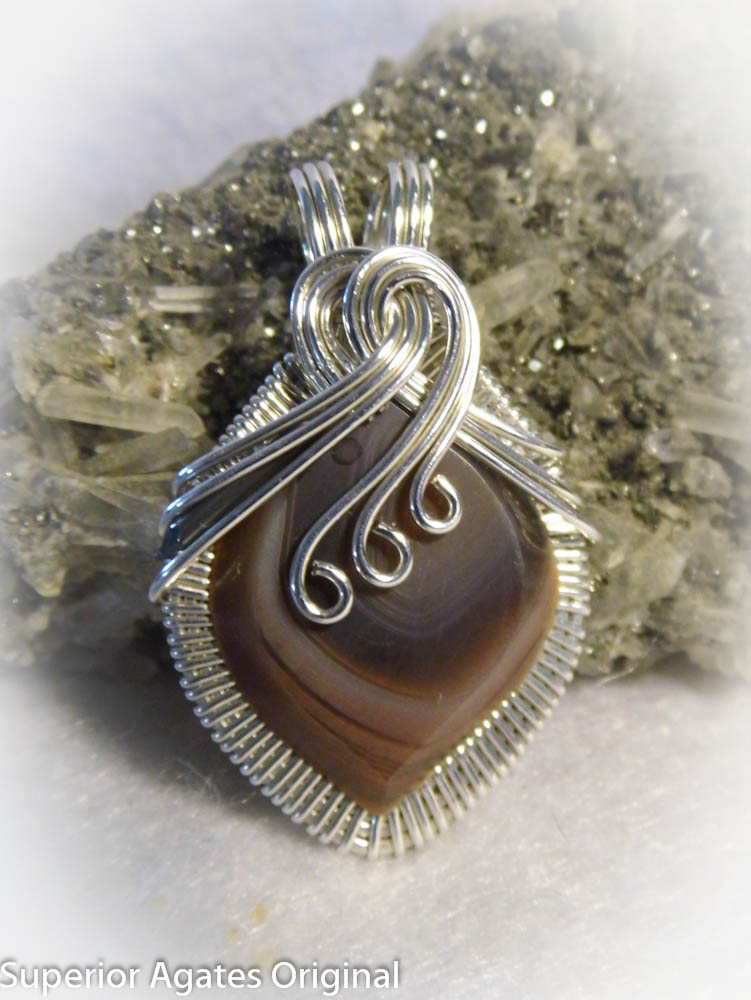 Lake Superior Agate Wire Wrapped Stone Pendant by superioragates ...