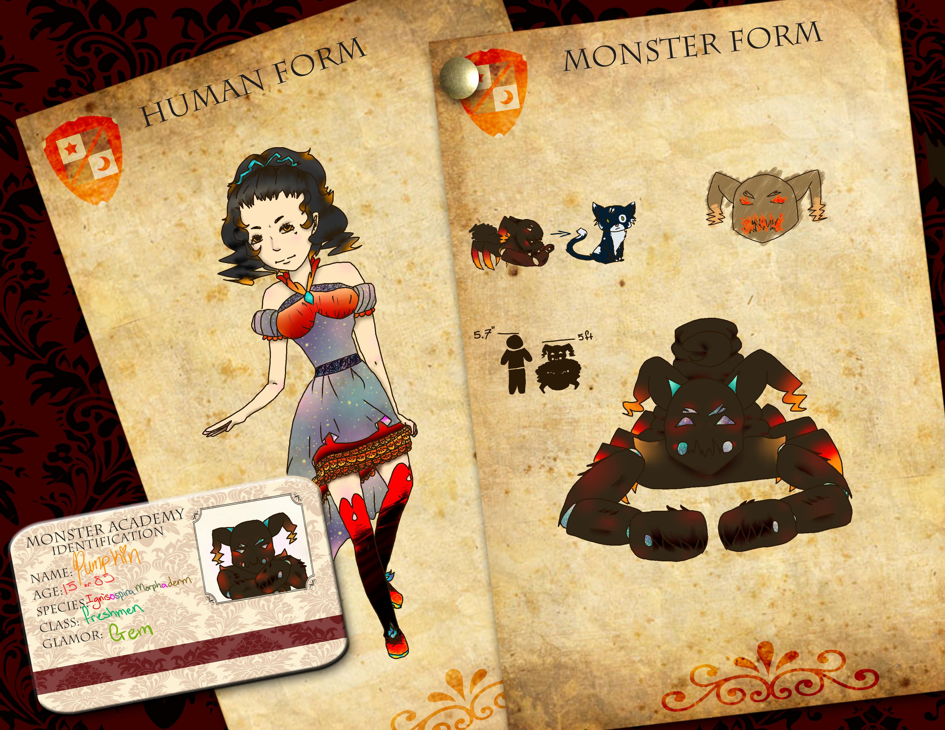 Monster Academy Application: pumpkin by Mint-Princess