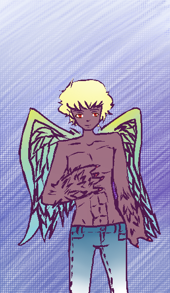 Man bird thing {closed} by Mint-Princess