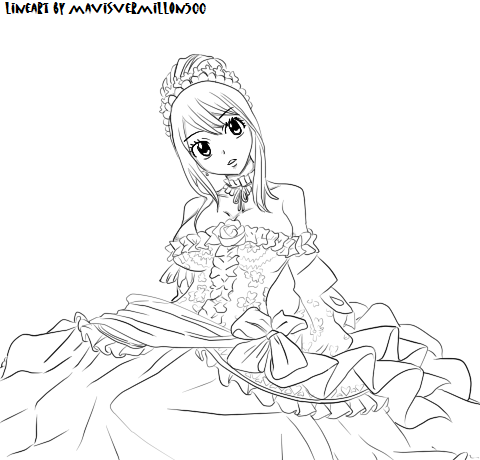 Fairy Tail Lucy Coloring Pages PNG Image | Transparent PNG Free ... | 460x480