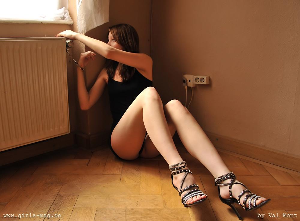 girl in bondage wearing socks
