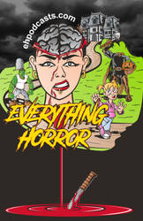 Everything horror color poster by Jumbienutes