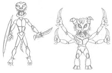 Monster sketches by Jumbienutes