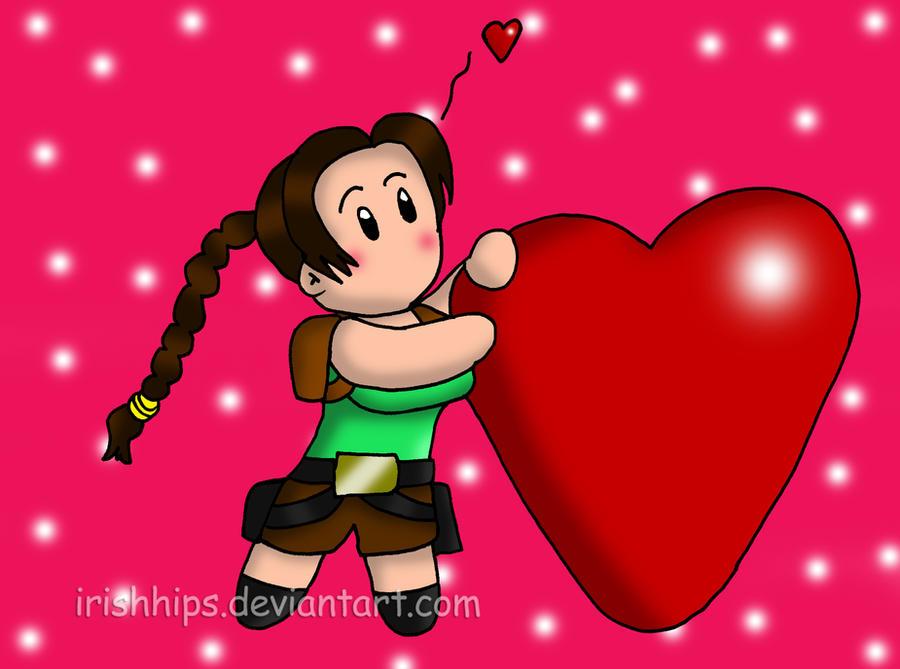 Lara Croft: Feeling The Love by Irishhips