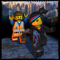 The Lego Movie: Emmet and Wyldstyle by Irishhips