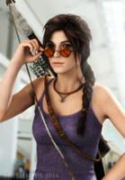 Tomb Raider: Lara At SDCC 2016 by Irishhips