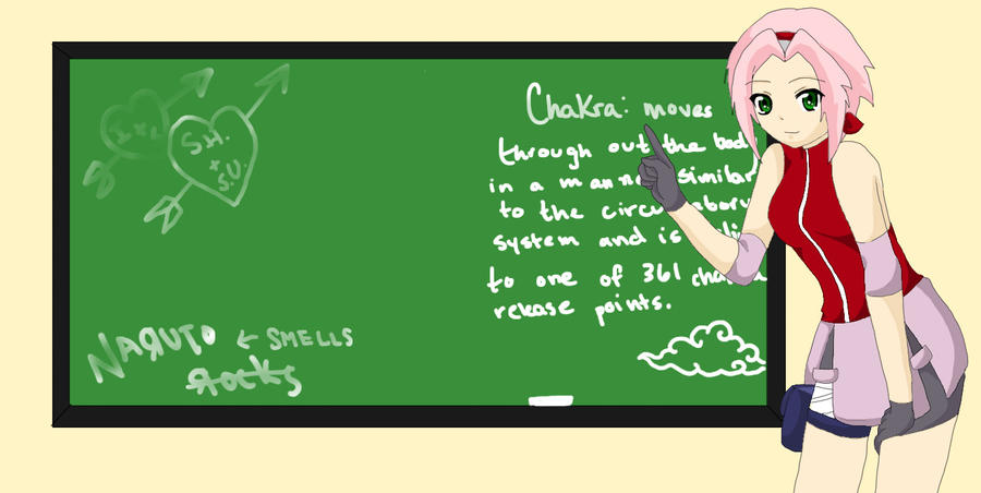 STOP! No writing on the chalkboard - Iruka by Queen-Of-Cute on ...