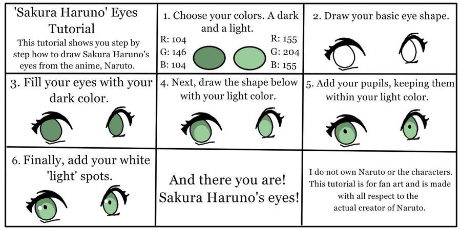 'Sakura Haruno' Eyes Tutorial by Queen-Of-Cute