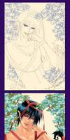 Colouring process