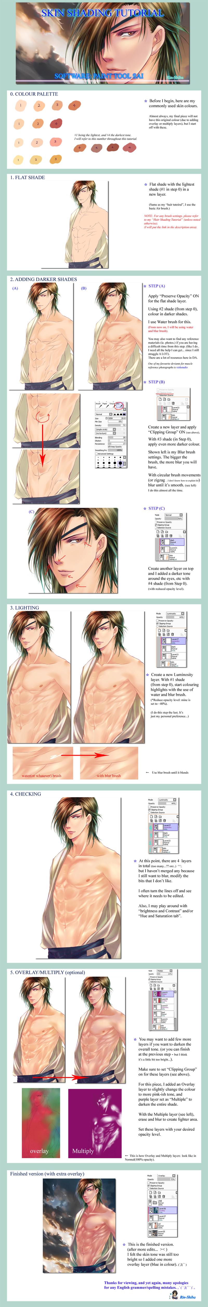 Skin Colouring Tutorial - my way by Rin-Shiba