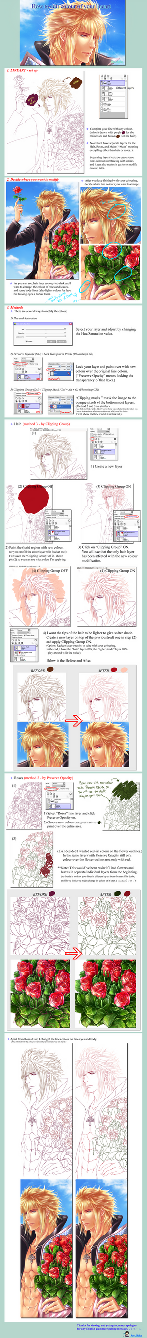 Basic Tutorial - How to change your Lineart Colour