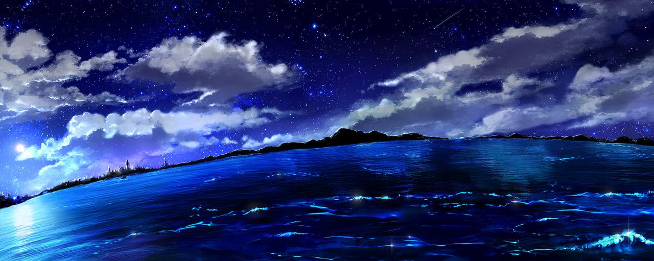 Stock Night Sky Ocean - free