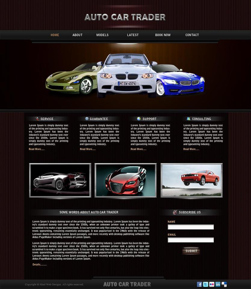 car website design. Black Bedroom Furniture Sets. Home Design Ideas