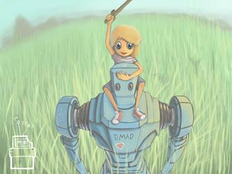 Her robot by DMADdrawer