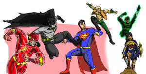The Justice League of Earth-DX by DetectiveX