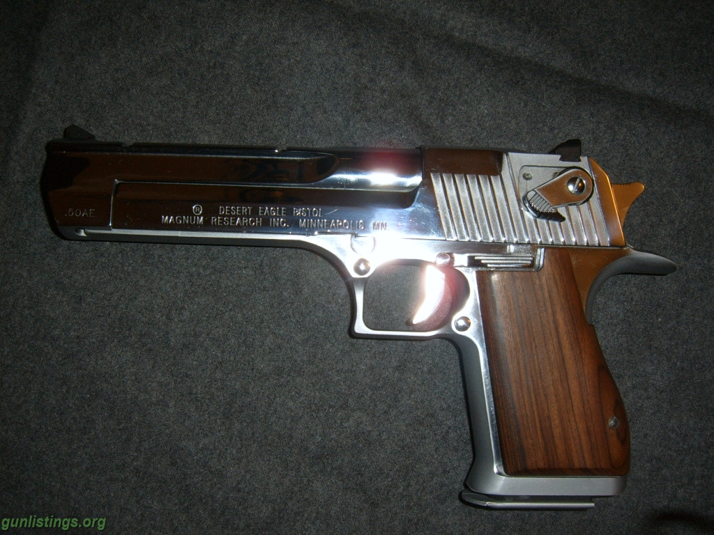 Developed for use in the Israeli armed forces, the Desert Eagle .50 caliber  is
