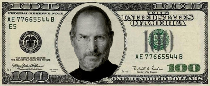 Steve Jobs $100 bill