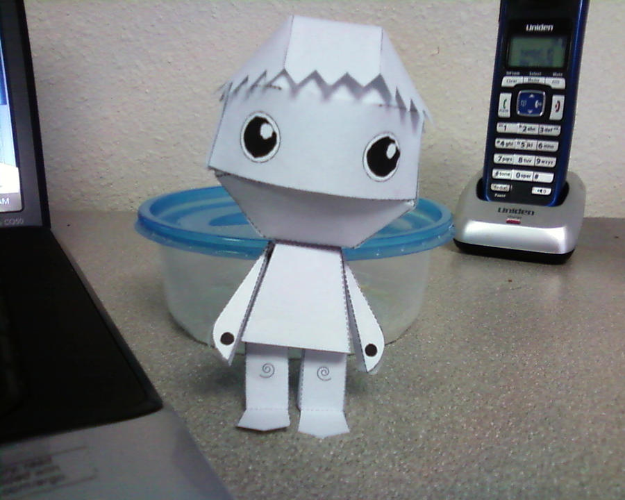 paper doll chibi robot by innocently creating