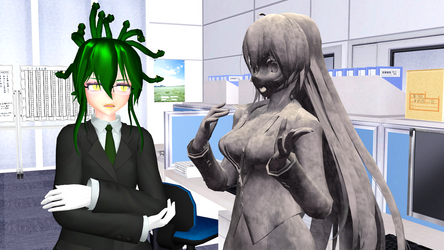 Office Gorgon - Just Shut Up by Sofia-MMD