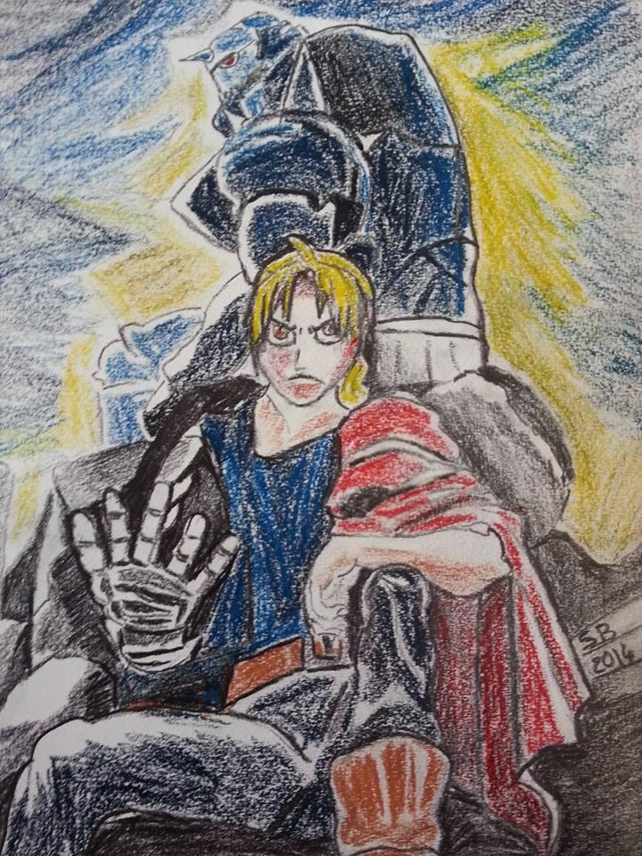 Full Metal Alchimist Brotherhood Fan Art by Shadowslabs