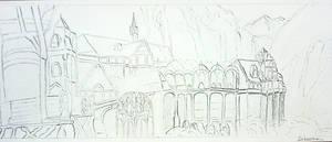 LOTR Rivendell - Fondcombe drawing Fan Art