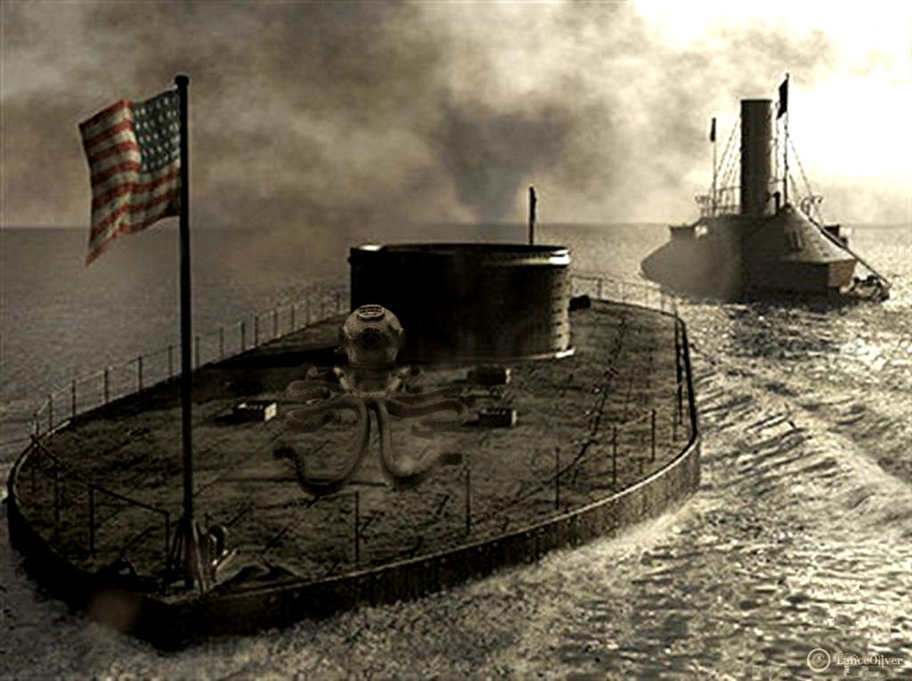 Battle of the Ironclads by orbhunterx