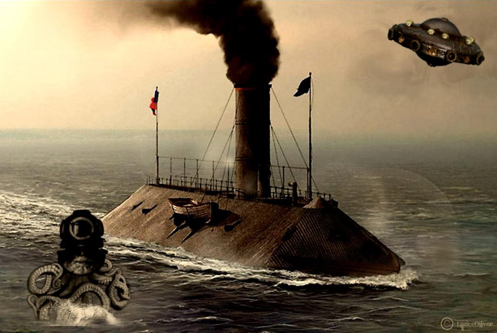 CSS Virginia Ironclad by orbhunterx