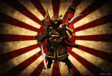 Samurai Sun by OliverInk