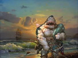 Shark Bait by OliverInk