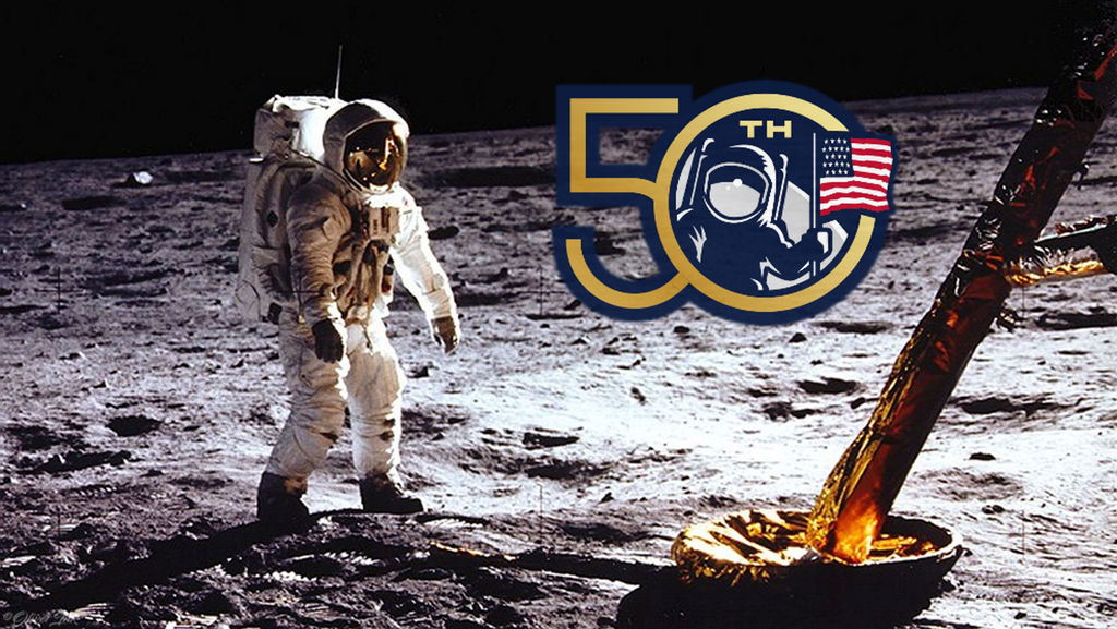 50th Anniversary Of The Moon Landing by OliverInk