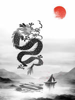 Chinese Luck Dragon by OliverInk
