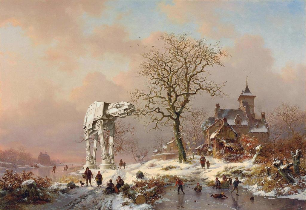 Walker In A Winter Wonderland