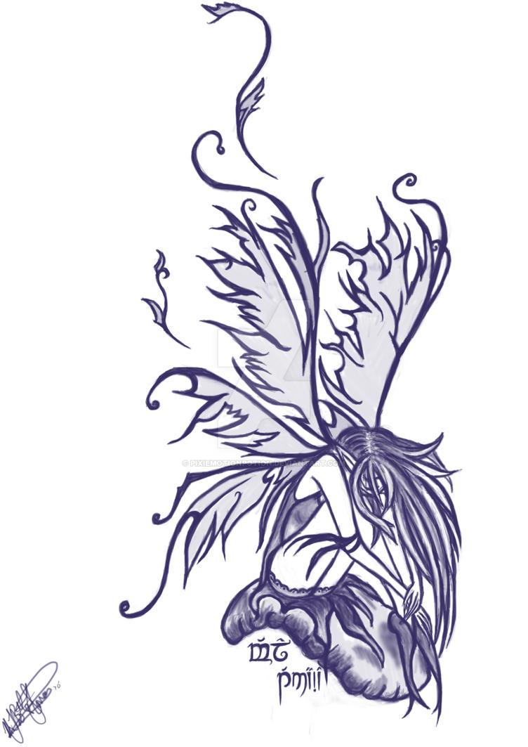 my pixie tattoo design by pixiemotionpotion on deviantart. Black Bedroom Furniture Sets. Home Design Ideas