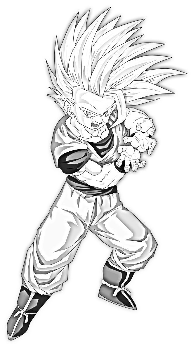Pencil Sketch Gohan Super Saiyan 2 Teen By Speedy Hedgehog On Deviantart