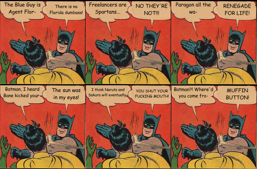 Batman Slapping Robin Meme by XPvtCabooseX on DeviantArt
