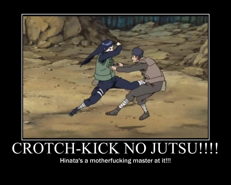 Hinata-Crotch Kick No Jutsu!!!-(Poster) by XPvtCabooseX