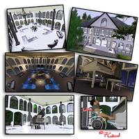 Hall Design_The Sims 3 by 7Cubical