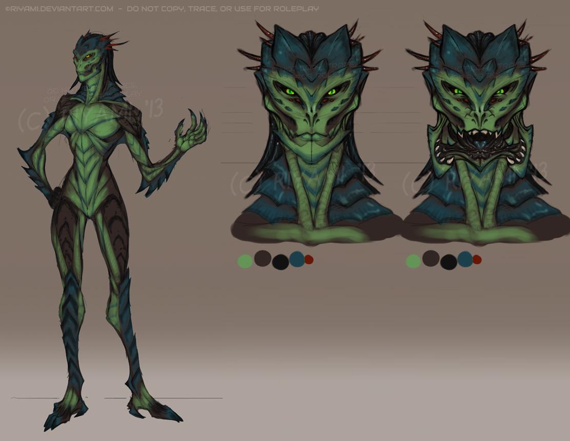 Reptilian-Insectoid Alien by Riyami