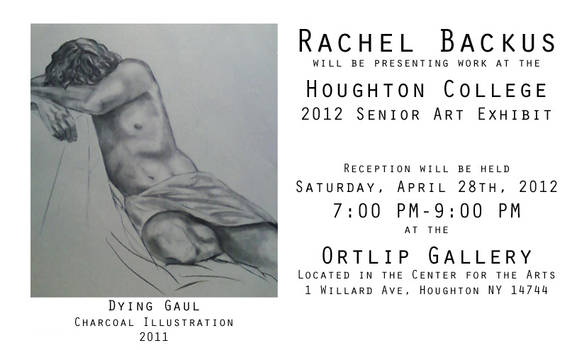 Reception cards for the 2012 Senior Exhibit