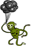 Zombie Monkey Holding Balloons by Nathan-Jahromi