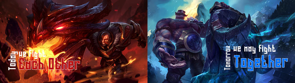 League Of Legends Braum Dual Monitor Wallpaper By Maxyjo