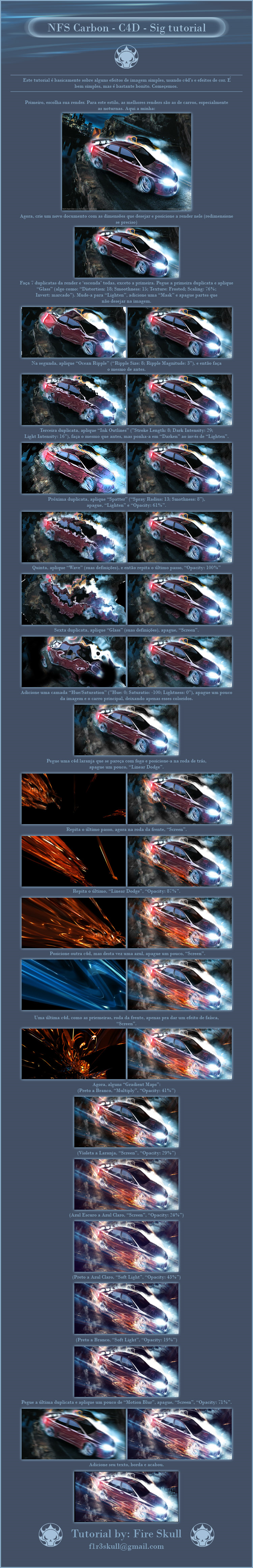 NFS Carbon C4D Sig tutorial EN by f1r3skull.
