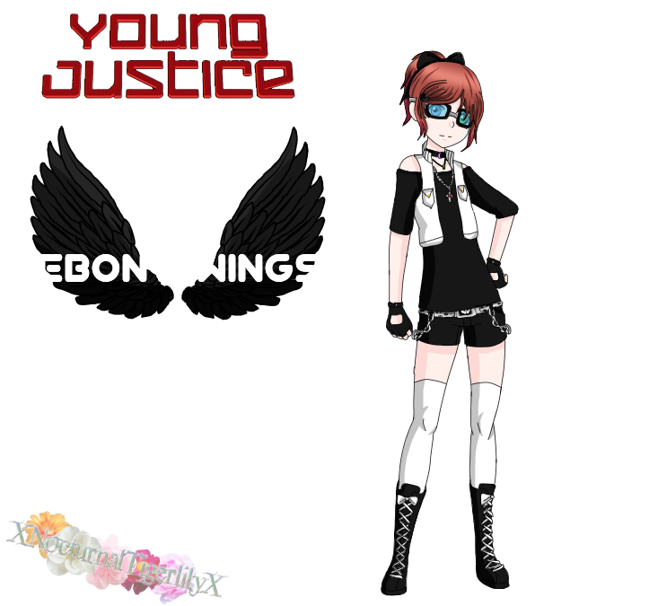 [Young Justice OC] Ebony Wings by XNocturnalTigerlilyX