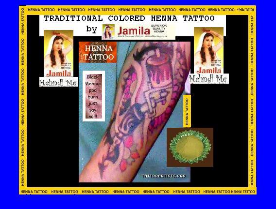 Colored Henna Tattoo: Colored Henna Tattoo By Inkwork27 On DeviantArt