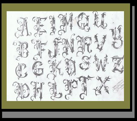 lettering for tattoos. Word and Lettering Tattoo