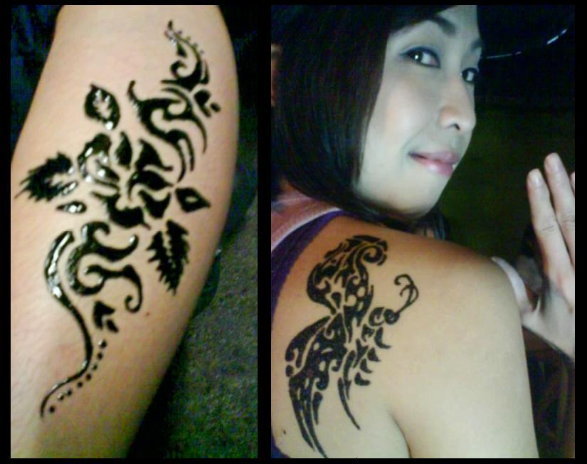 henna tattoo designs butterfly