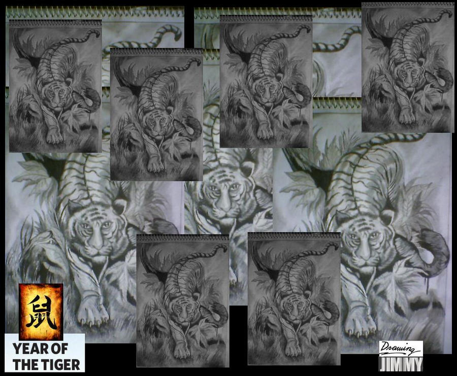 year of the tiger tattoo desig by inkwork27 on deviantart. Black Bedroom Furniture Sets. Home Design Ideas