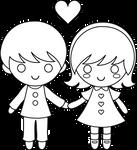 Valentine line art