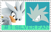 Number 1 Silver Fan Stamp by Psychicstar